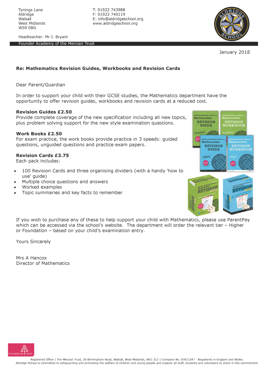 revision guide letter