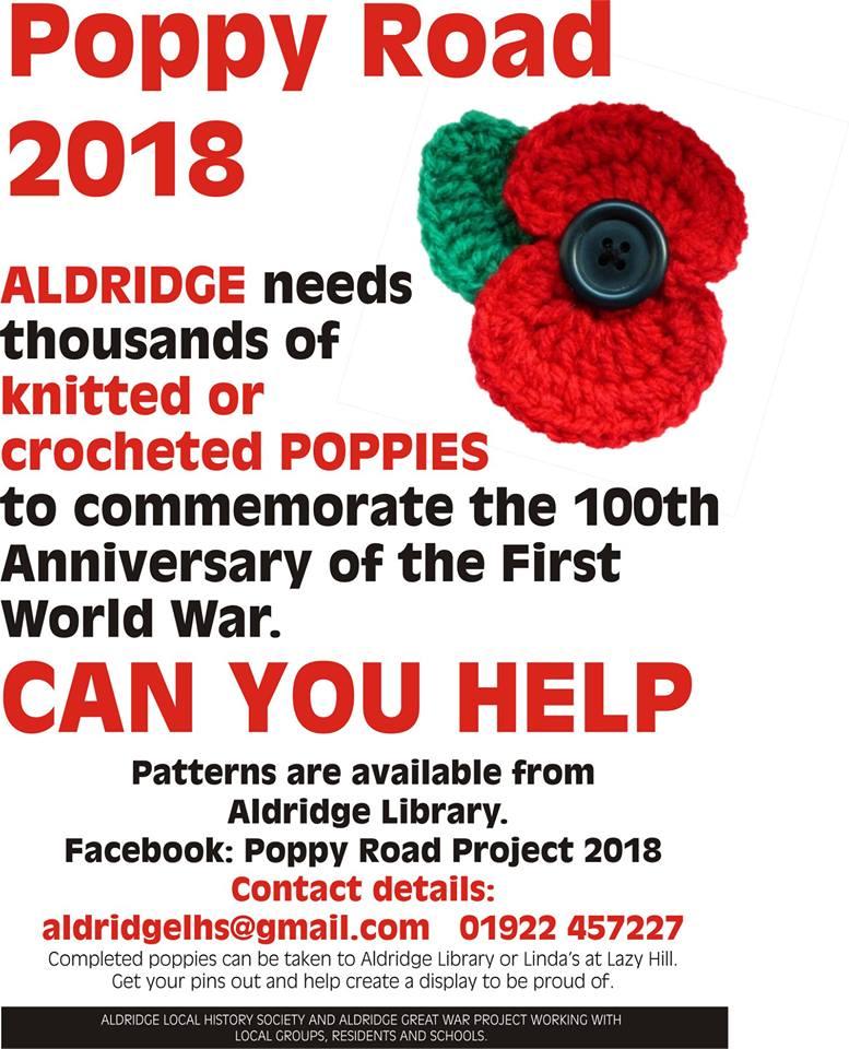 Poppy Rd knitting poster